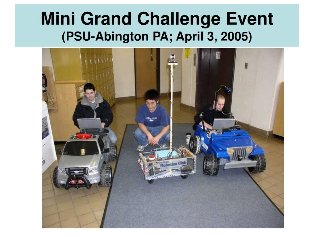 Mini Grand Challenge Event