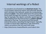 internal workings of a robot