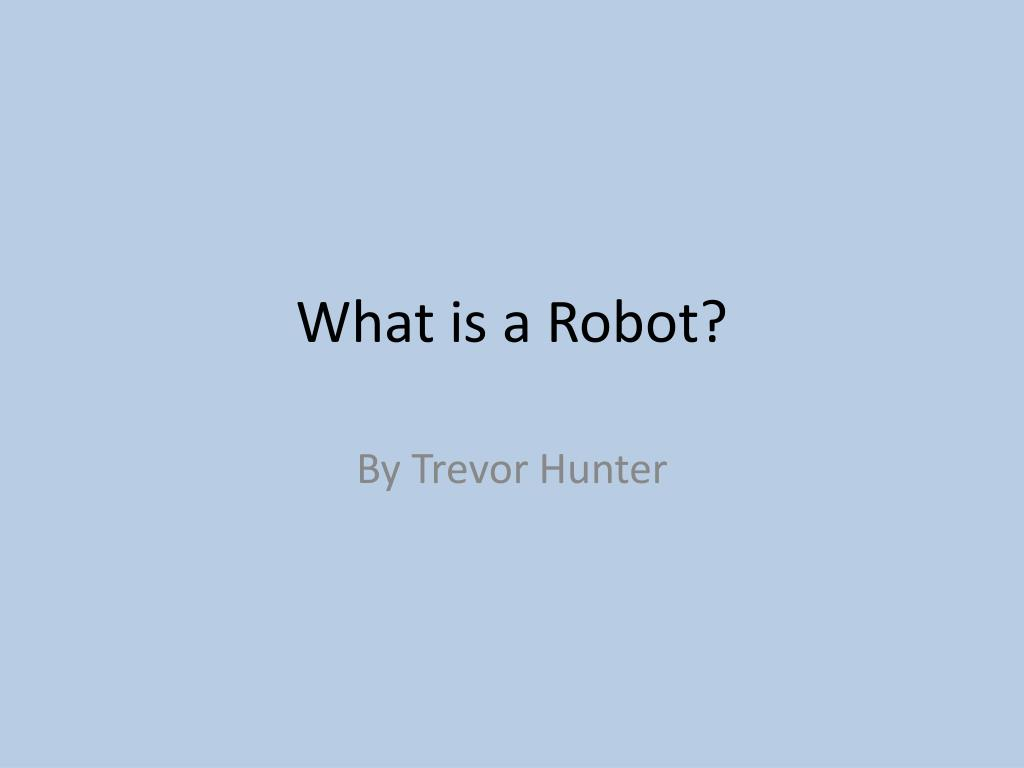 what is a robot l.