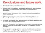 conclusions and future work70