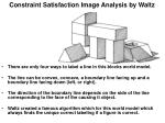 constraint satisfaction image analysis by waltz34