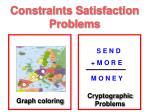constraints satisfaction problems