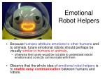 emotional robot helpers