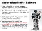 motion related khr 1 software