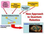 new approach to quantum robotics