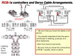 rcb 1 s controllers and servo cable arrangements