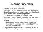 cleaning fingernails