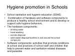 hygiene promotion in schools
