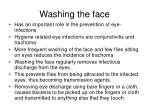 washing the face