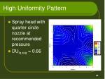 high uniformity pattern