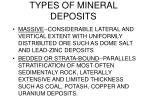 types of mineral deposits