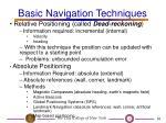 basic navigation techniques