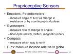 proprioceptive sensors