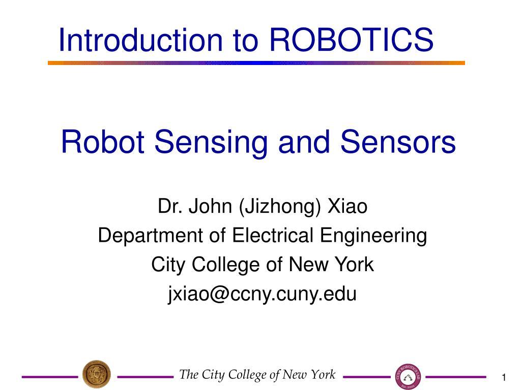 robot sensing and sensors l.