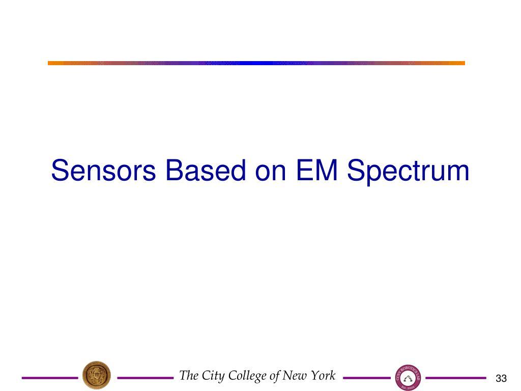 Sensors Based on EM Spectrum