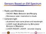 sensors based on em spectrum35