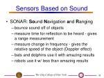 sensors based on sound