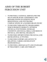 aims of the robert fergusson unit