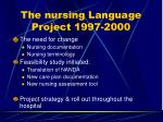 the nursing language project 1997 2000