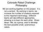 colorado robot challenge philosophy