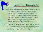 features of decision 3