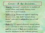 green v r the decisions