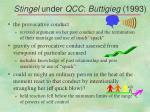 stingel under qcc buttigieg 1993