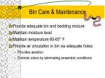 bin care maintenance