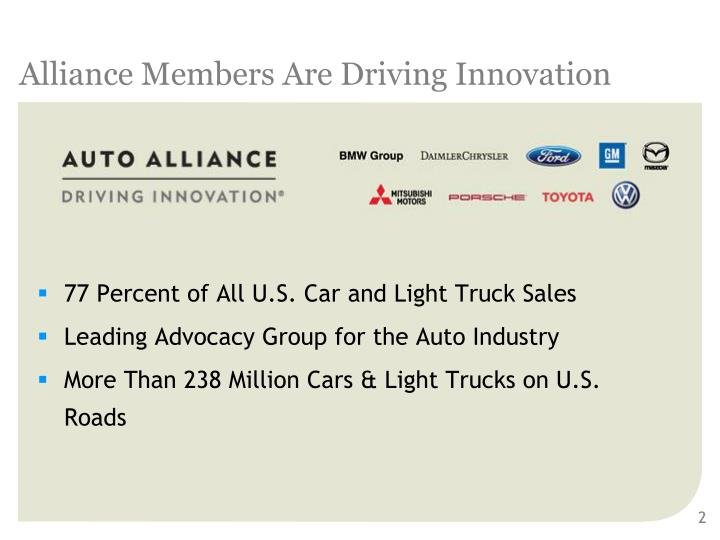 Alliance members are driving innovation