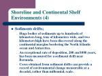 shoreline and continental shelf environments 4