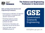 the science and engineering profession in government