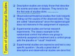 types of epidemiologcal studies