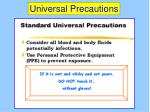 universal precautions52