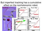 but imperfect tracking has a cumulative effect on the nonholonomic robot20