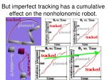 but imperfect tracking has a cumulative effect on the nonholonomic robot21