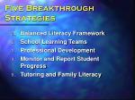 five breakthrough strategies
