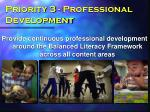 priority 3 professional development