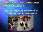 priority 5 tutoring and family literacy