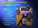 tutoring and family literacy