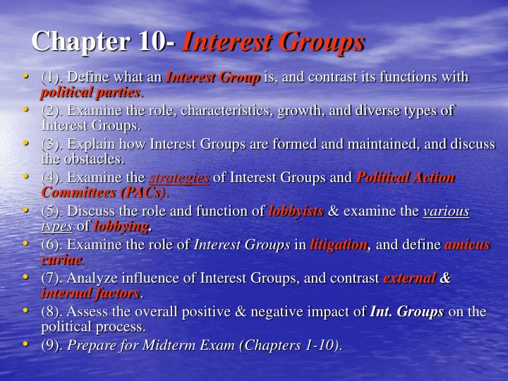 chapter 10 interest groups n.