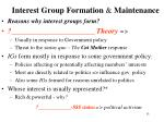 interest group formation maintenance