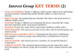 interest group key terms 2