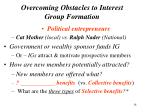 overcoming obstacles to interest group formation