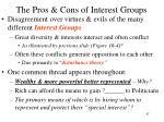 the pros cons of interest groups