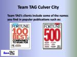 team tag culver city