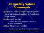 competing values framework32