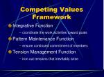 competing values framework33