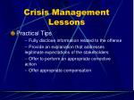 crisis management lessons71