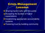 crisis management lessons73