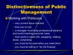 distinctiveness of public management